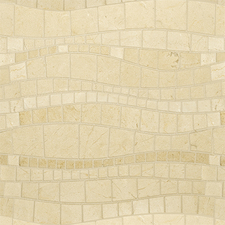 Artistic Tile - STONE Crema Marfil Limestone Sinuous Polished Water Jet Mosaic
