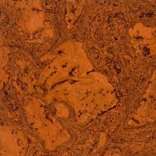 Duro Design - Cleopatra Negra Cork Floating Floor Orange