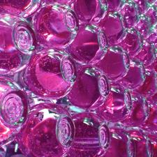 Poetic Products - Water Drop Curtain Pink