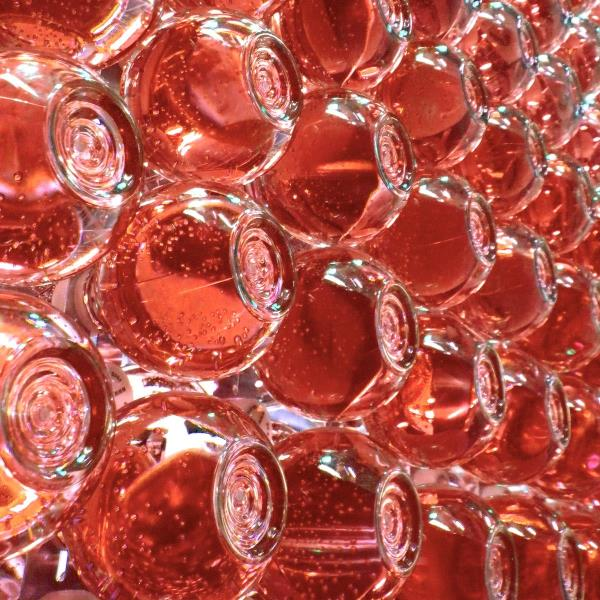 Poetic Products - Water Drop Curtain Red