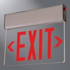 Cooper Lighting - Exit and Emergency Lighting REUS - Surface Edge-Lit Exit Sign