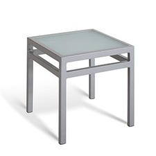 Gar Products - BAYHEAD TEMPERED GLASS SQUARE END TABLE