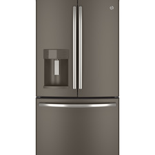 GE Appliances - Counter Depth Full Door Bottom-Freezer Refrigerators GE ENERGY STAR 22.1 Cu. Ft. Counter-Depth French-Door Refrigerator