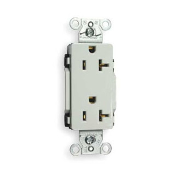Hubbell - Straight Blade Devices Line Decorator Duplex Receptacles