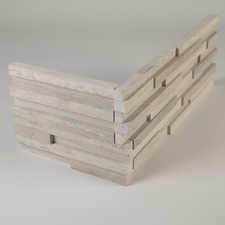 Realstone Systems - REALSTONE™ COLLECTION PANELS THIN WHITE BIRCH HONED PANEL - CORNER